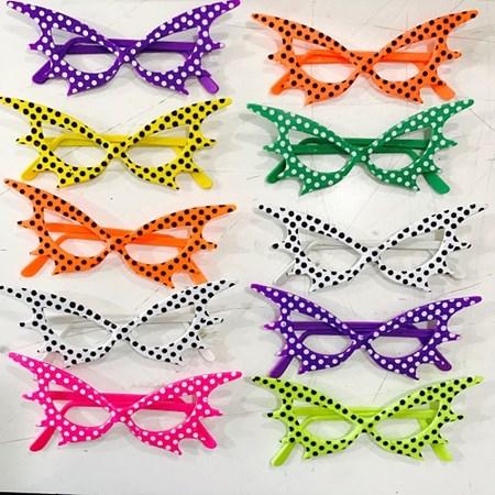 Oculos Mascara Bolinhas Pintado c/ 10 unidades