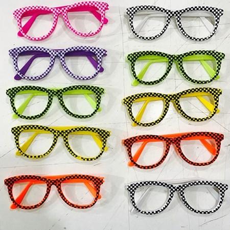 Oculos Nerd Xadrez c/ 10 Unidades