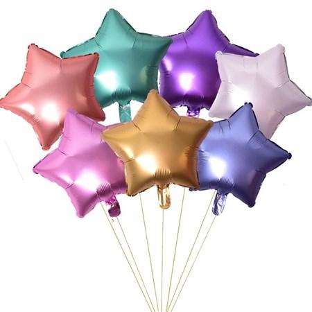 20 Unid. Balão Chrome Metallic Estrela Metalizado Fosco 45cm