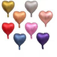 20 Unid. Balão Chrome Metallic Coraçao Metalizado Fosco 45cm